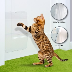 cat door protector frame protectors for scratching cats deterrent scratch stopper guard shield pet dog 2a
